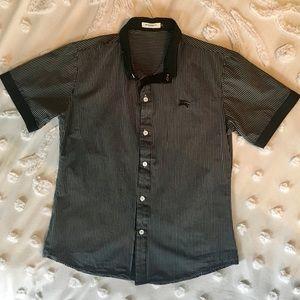 Burberry London Grey & Black Stripe button down M